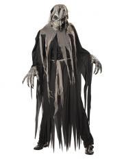 Zombie Kostüm mit Gesichtsmimik Maske
