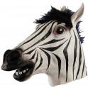 Zebra fasching maske
