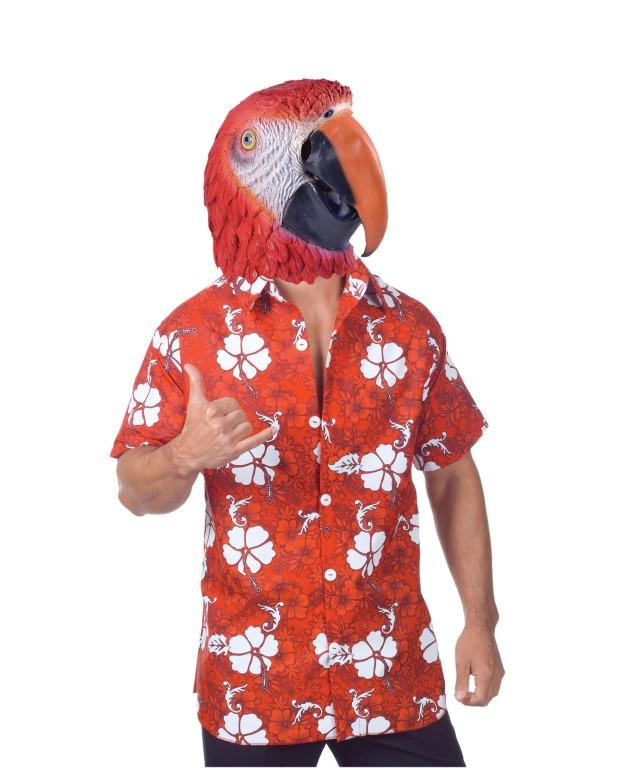 Roter Papagei Faschings Maske schweiz