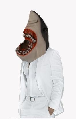Hai Maske aus Latex